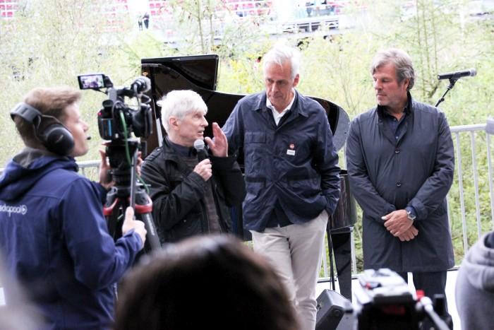 Peintner, Littmann und Enea bei Eröffnung