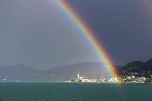 Regenbogen über Maria Wörth